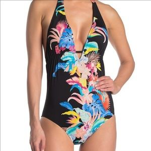 Laundry by Shelli Segal One Piece Floral Swimsuit